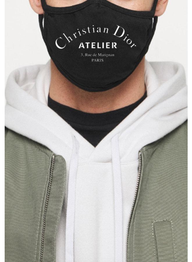 Atelier face mask black