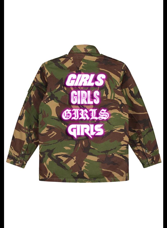 Girls pink camo jacket