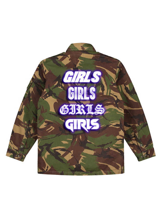Girls blue camo jacket