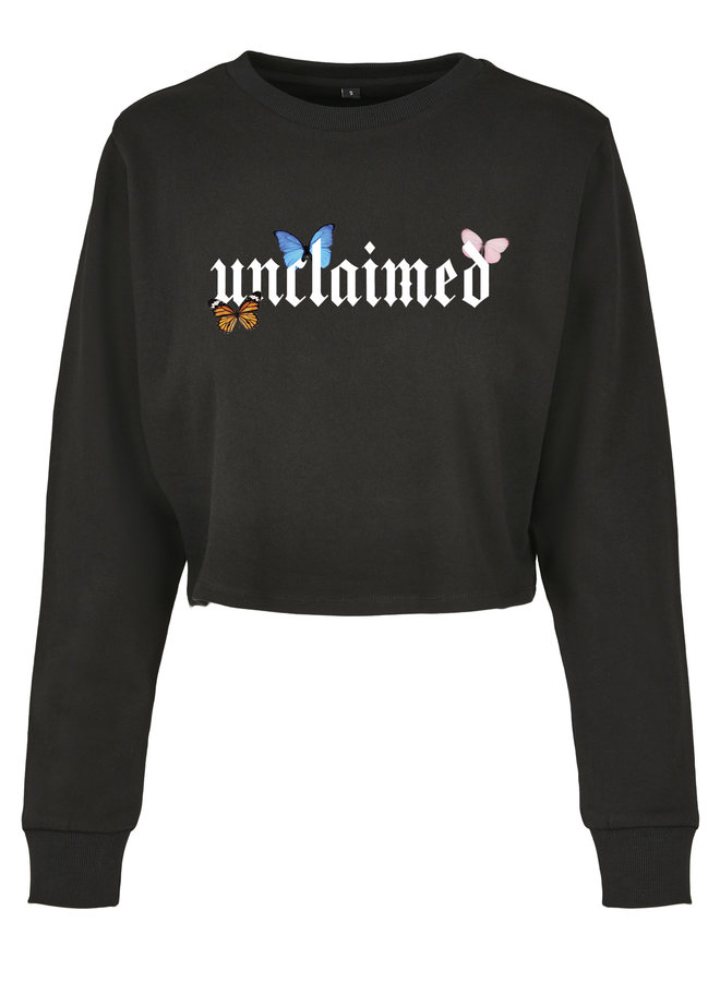 Unclaimed butterfly cropped sweater