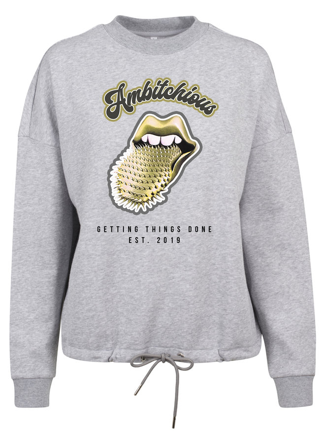 Ambitchious gold sweater