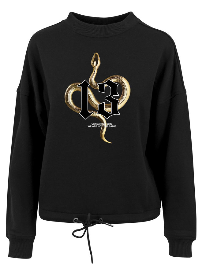 Gold snake sweater
