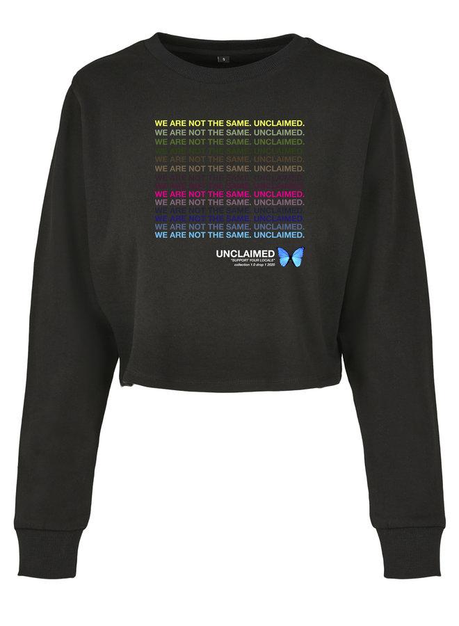 Rainbow cropped sweater