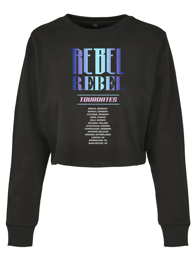 Rebel blue cropped sweater