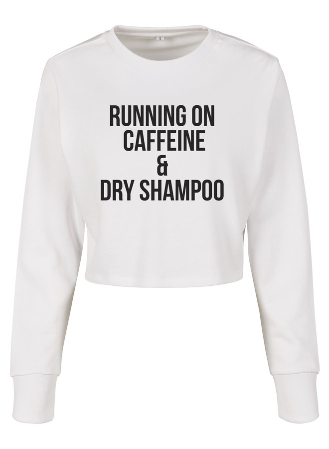 Running on cropped sweater