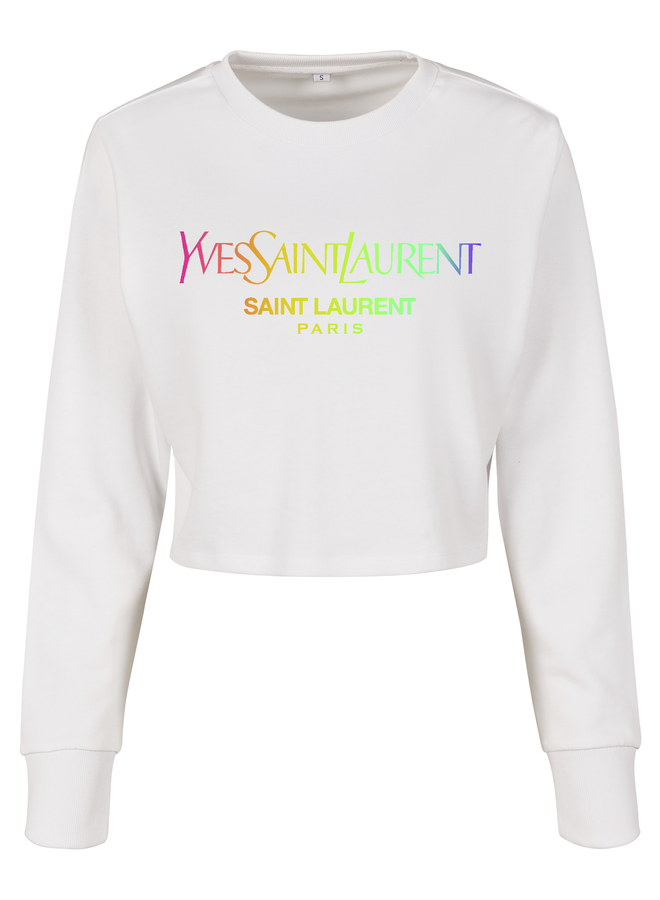 Sainty rainbow cropped sweater