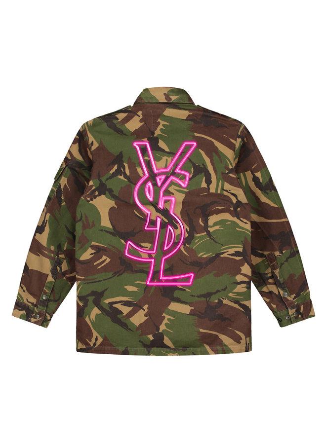 Neon sign camo jacket