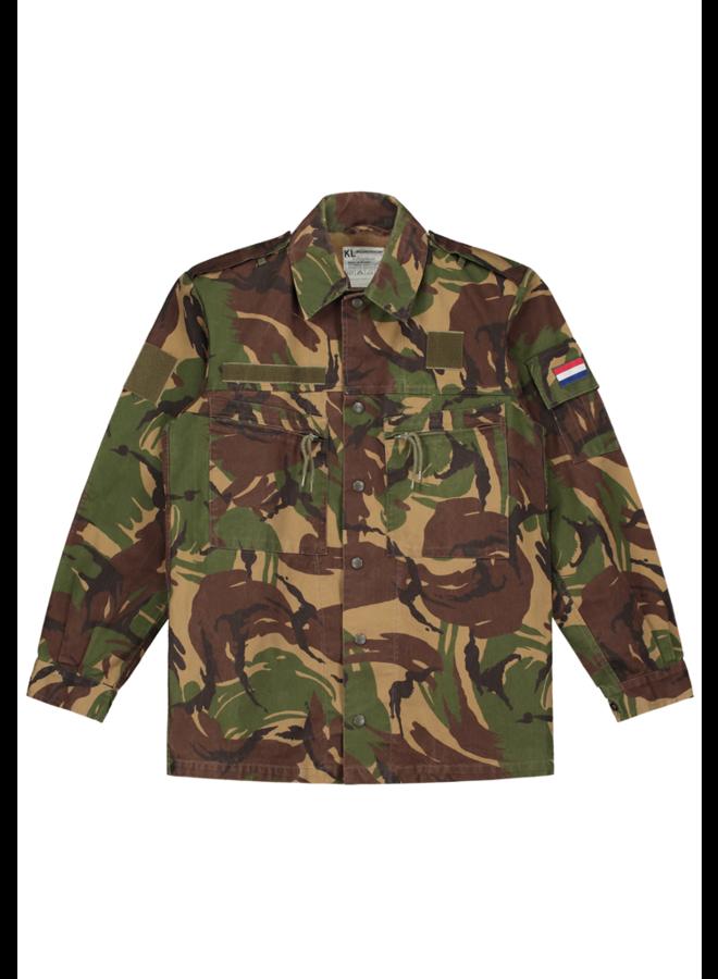 Curved camo jacket