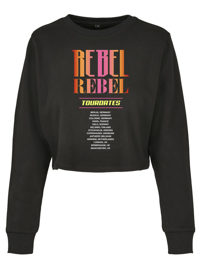 SALE - Rebel Cropped Sweater Black M
