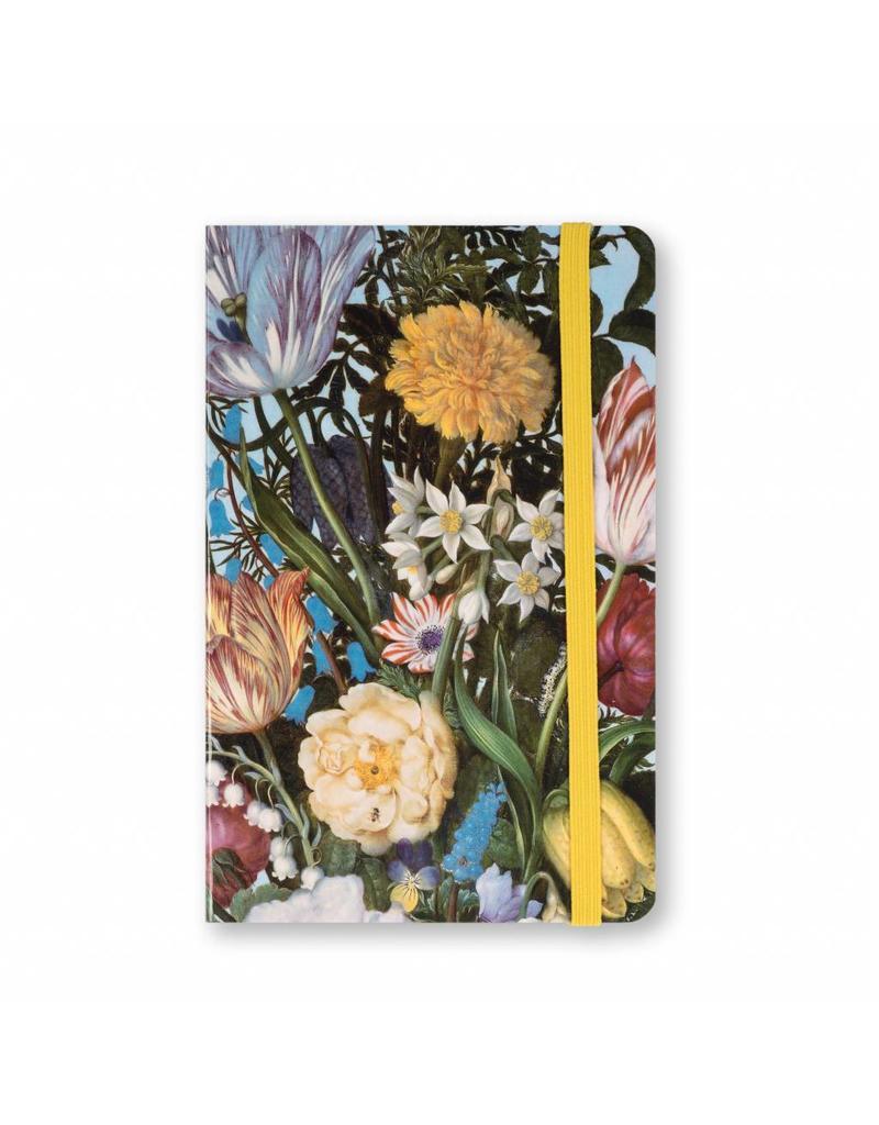 Notitieboek A6 Vaas met Bloemen in een Venster