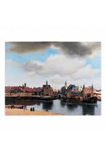 Reproductie Gezicht op Delft op Canvas