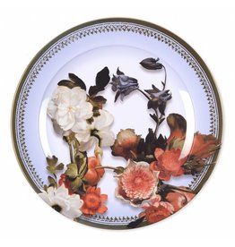 Decorative Plate Still Life with a Bouquet in the Making