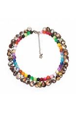Multicoloured Litchi Necklace