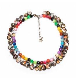 Multicoloured Litchi Necklace