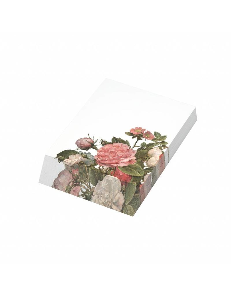 Notepad Roses in a Glass Vase