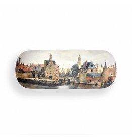 Brillenkoker Gezicht op Delft