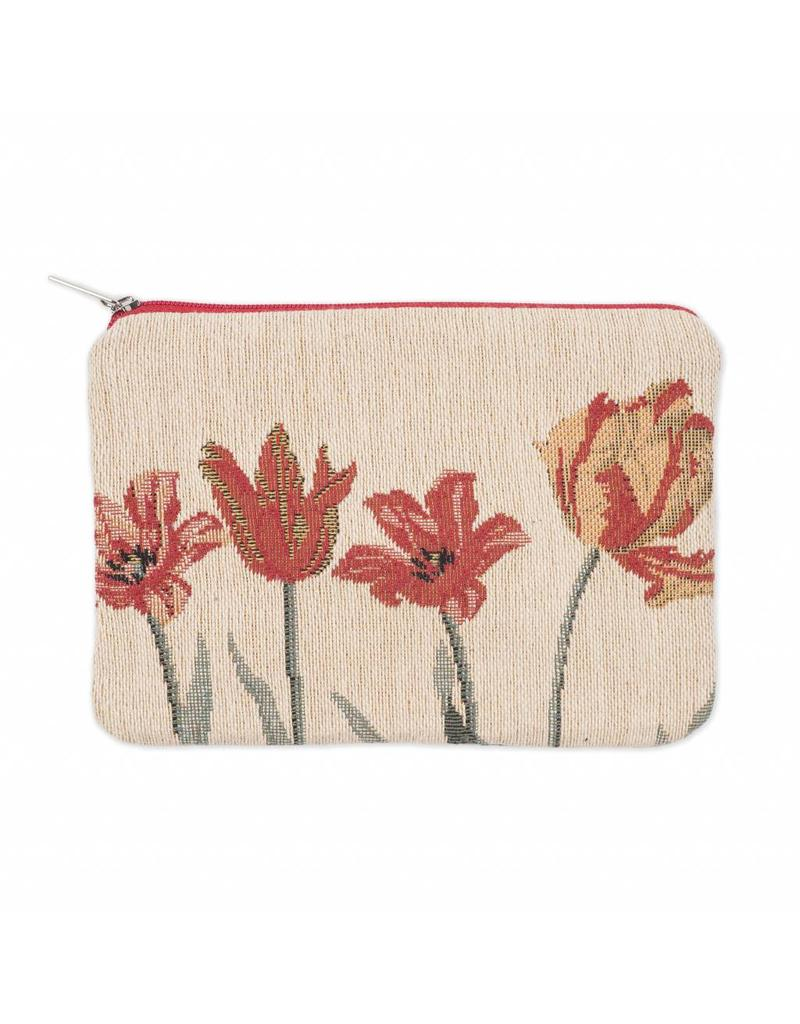 Pouch Tulips cream