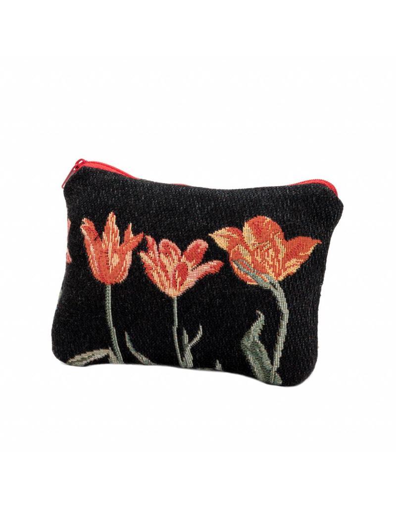 Etui Tulpenrij zwart