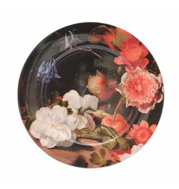 Charger Plate Still Life with a Bouquet in the Making