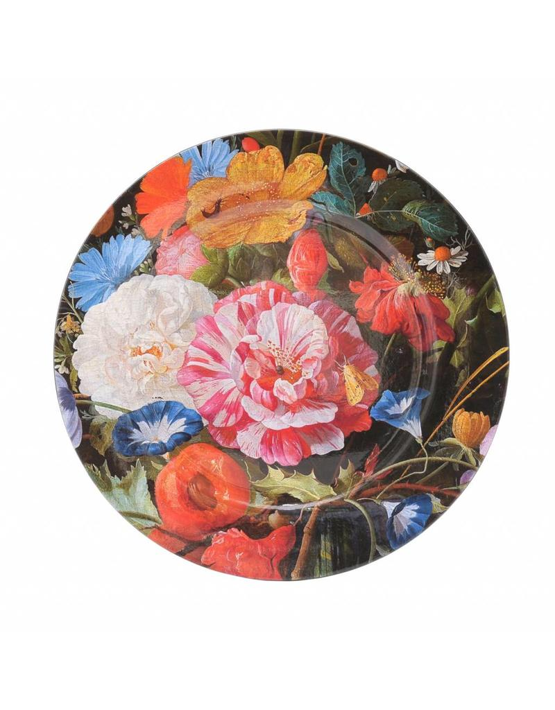 Charger Plate Vase of Flowers