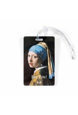 Luggage Tag Girl with a Pearl Earring