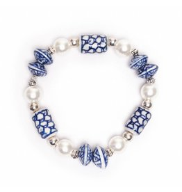 Delfts Blauwe Parel Armband