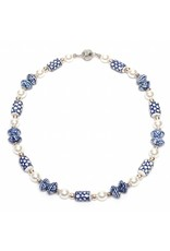 Delft Blue Pearl Necklace
