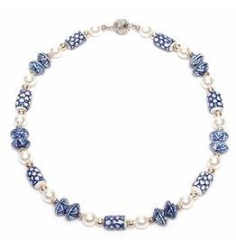 Delft Blue Pearl Necklace