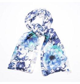 Shawl Delft Blue Flowers