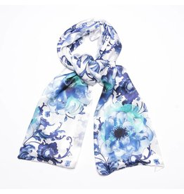 Shawl Delftsblauwe Bloemen