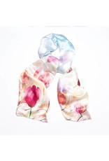 Shawl Blauw Roze Bloemen