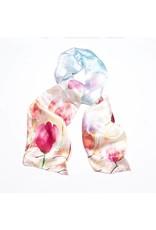 Shawl Blue Pink Flowers