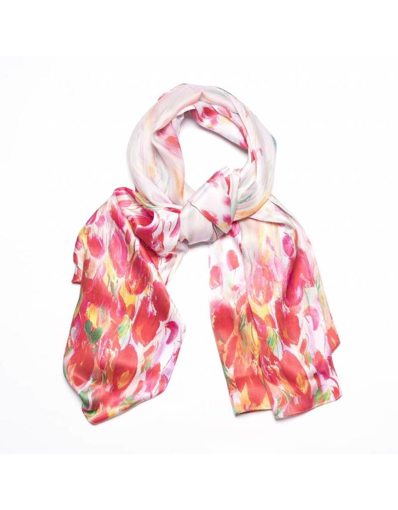Shawl Red Tulips