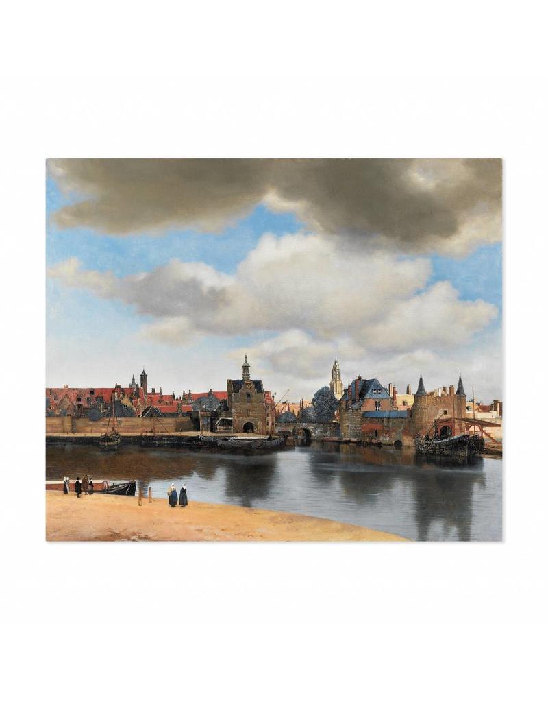 Poster Gezicht op Delft