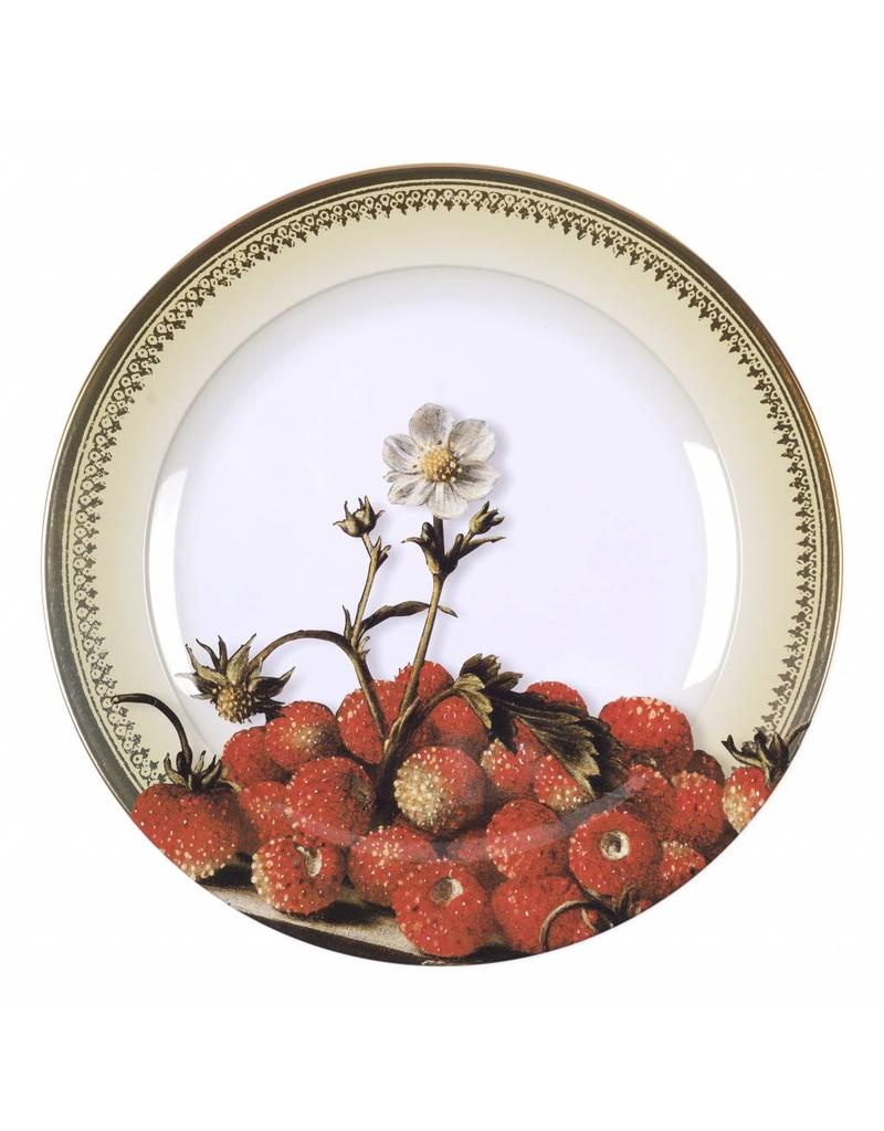 Decorative Plate Still Life with Wild Strawberries