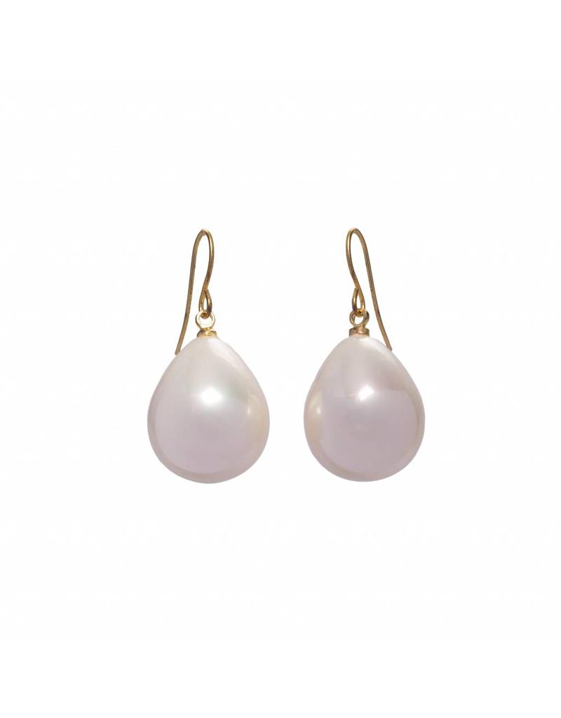 Pearl Earrings gold plated (Small)