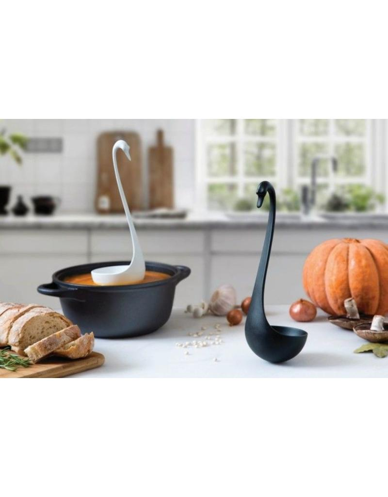 Swanky - drijvende soeplepel (zwart)