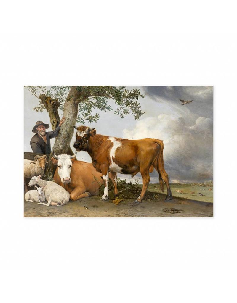 Poster De Stier van Paulus Potter