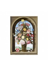 Poster Vase of Flowers in a Window by Ambrosius Bosschaert