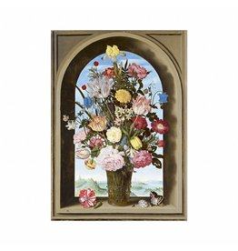 Poster Vase of Flowers in a Window Bosschaert