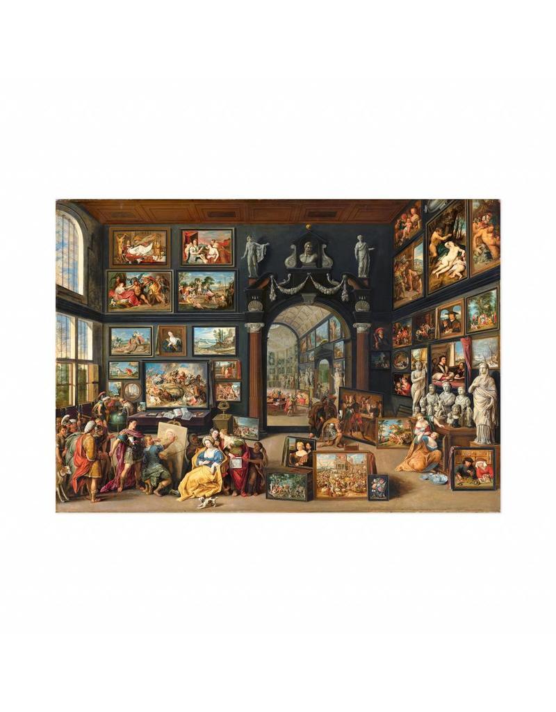 Poster Apelles schildert Campaspe van Willem van Haecht