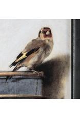 Reproductie Het Puttertje op Canvas  met lijst