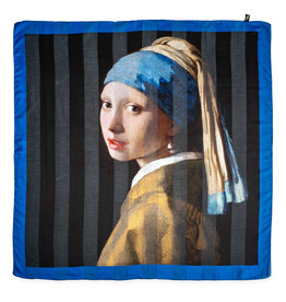 Shawl Girl with the pearl - satin striped