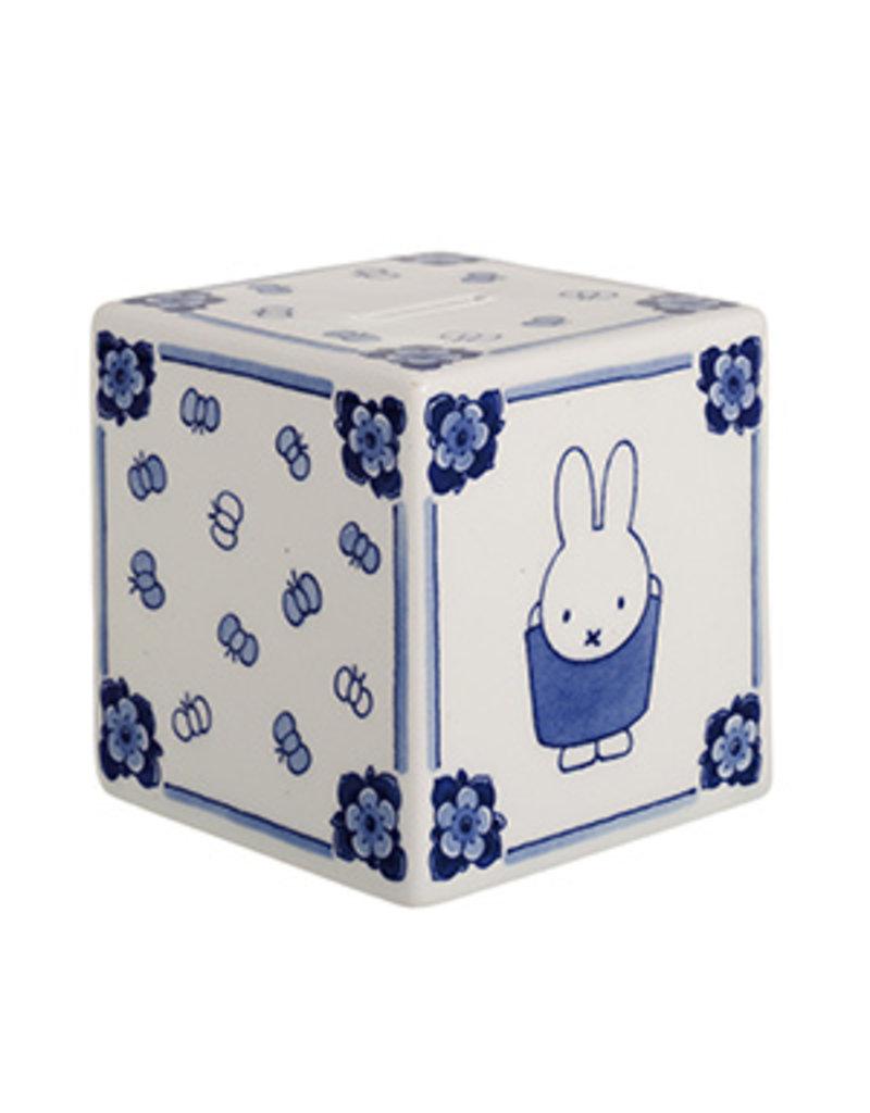 Spaarpot Nijntje kubus Delftsblauw