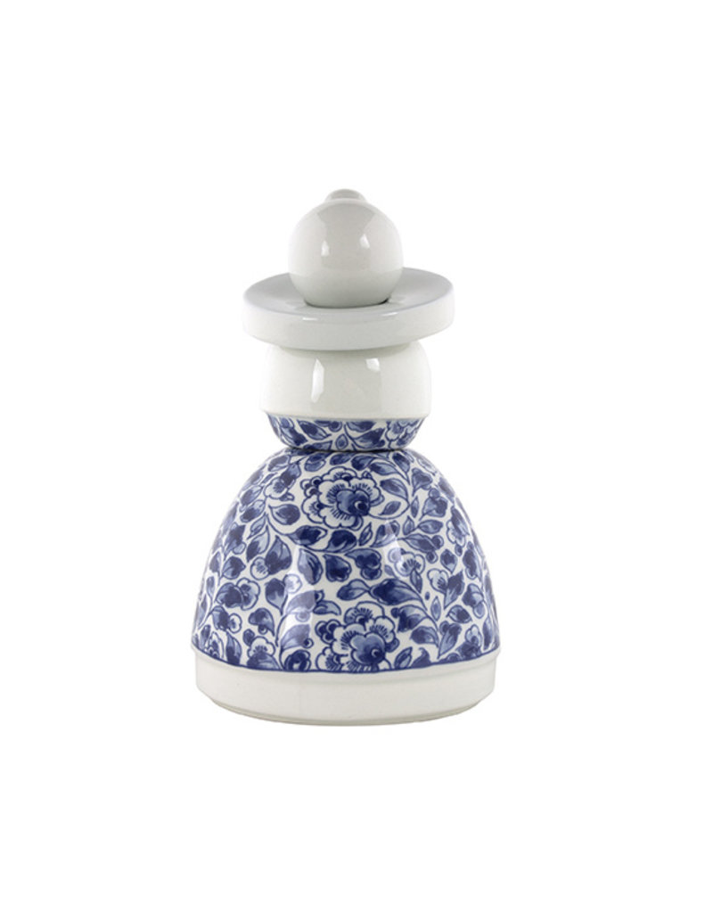 Proud Mary Flower Pattern Delft Blue 04