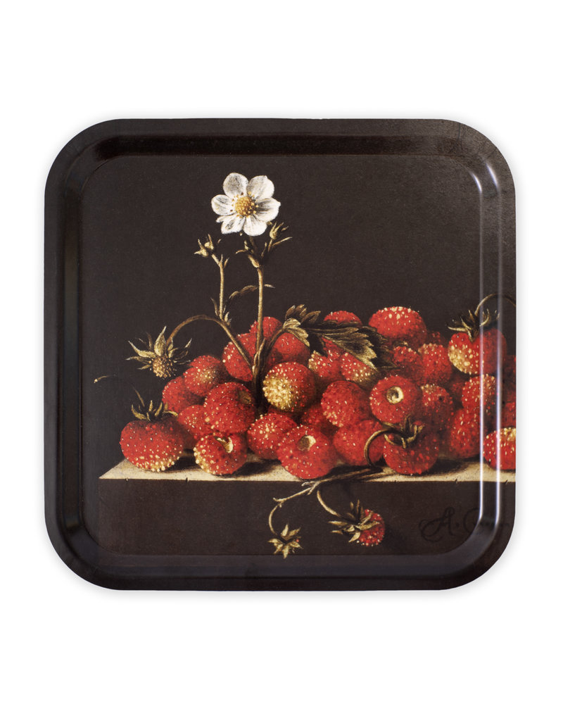 Tray Coorte, Still life with Wild strawberries