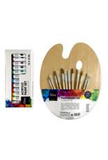 Set penselen  en acrylverf
