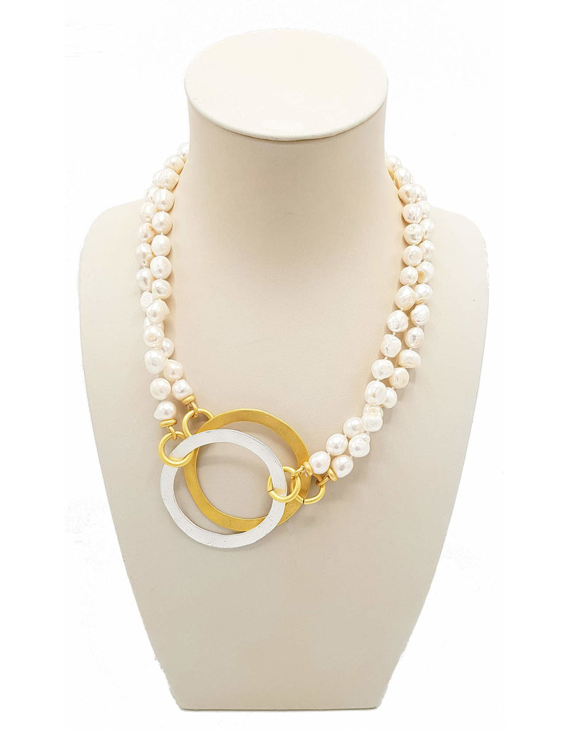 Necklace Japon Pearls and rings