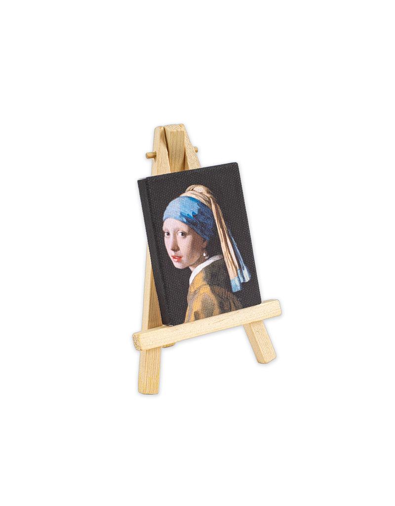 Canvas magneet met ezel Meisje met de parel
