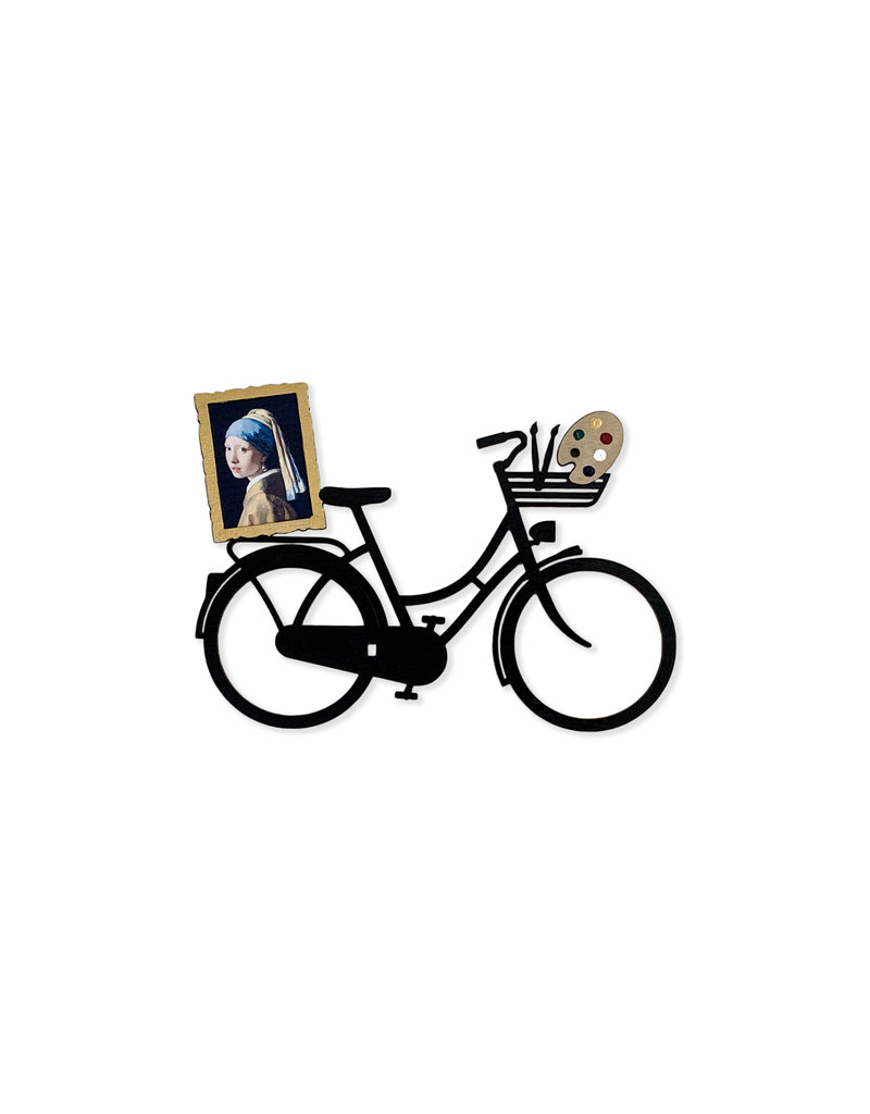 Card wooden bicycle